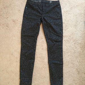 Women's black cheetah print jeans